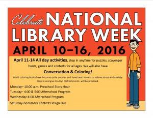 National Library Week @ Lied Randolph Public Library   Randolph   Nebraska   United States