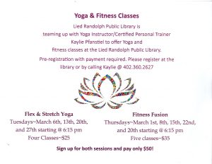 Yoga & Fitness Classes @ Lied Randolph Public Library