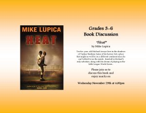 "Grades 3-6 Book Discussion over ""Heat"""
