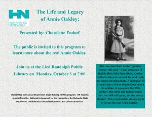 The Life and Legacy of Annie Oakley @ Lied Randolph Public Library
