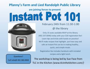 Instant Pot 101 @ Lied Randolph Public Library