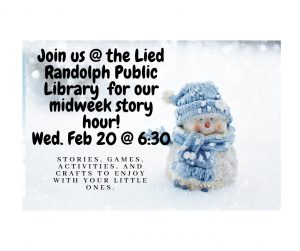 Midweek Evening Story Hour @ Lied Randolph Public Library