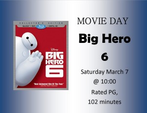 "Movie Day: ""Big Hero 6"" @ Lied Randolph Public Library"