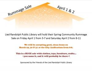Rummage Sale @ Randolph City Auditorium