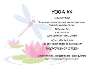 Yoga 101 @ Lied Randolph Public Library