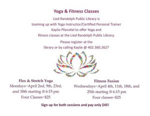 Flex and Stretch Yoga @ Lied Randolph Public Library