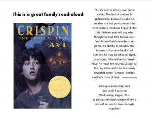 Crispin: The Cross of Lead book discussion @ Lied Randolph Public Library
