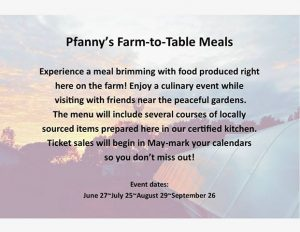 Pfanny's Farm to Table Meal @ Pfanny's Farms | Randolph | Nebraska | United States