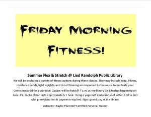 Friday Morning Fitness @ Lied Randolph Public Library