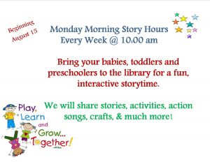 Monday Story Hour @ Lied Randolph Public Library