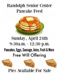 Senior Center Pancake Feed Fundraiser @ Randolph Senior Center