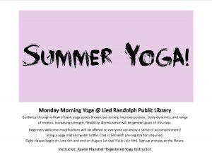 Summer Yoga @ Lied Randolph Public Library | Randolph | Nebraska | United States
