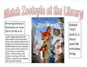 """Zootopia"" @ Lied Randolph Public Library"