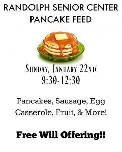Randolph Senior Center Pancake Feed @ Randolph Senior Center