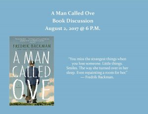 A Man Called Ove Book Discussion @ Lied Randolph Public Library