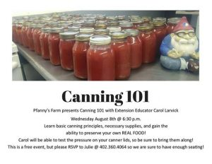 Canning 101 @ Pfanny's Farms | Randolph | Nebraska | United States