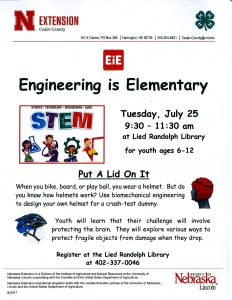 Engineering is Elementary @ Lied Randolph Public Library | Randolph | Nebraska | United States