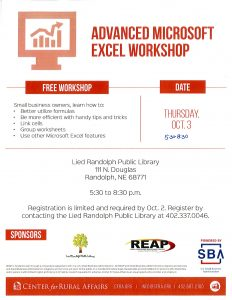 Microsoft Excel @ Lied Randolph Public Library
