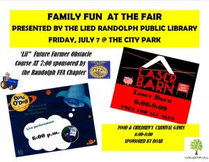 Food & Children's Carnival Games @ Randolph City Park