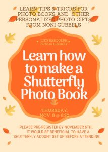 Shutterfly Photo Book Program @ Lied Randolph Public Library