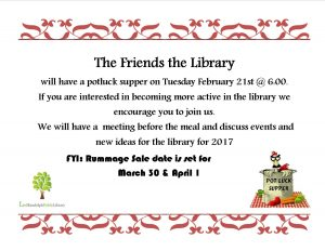 Friends of the Library Potluck @ Lied Randolph Public Library