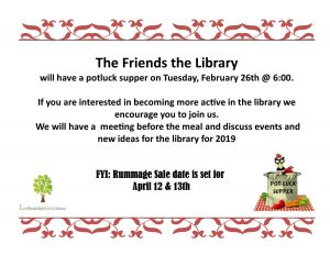 Friends of Library Meeting & Potluck @ Lied Randolph Public Library