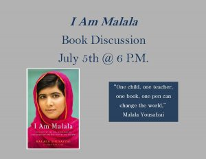 I Am Malala Book Discussion @ Lied Randolph Public Library