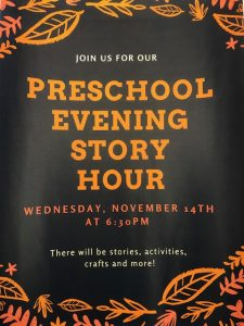 Preschool Evening Story Hour @ Lied Randolph Public Library