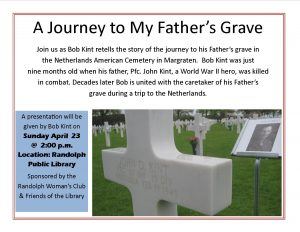 A Journey to My Father's Grave @ Lied Randolph Public Library | Randolph | Nebraska | United States