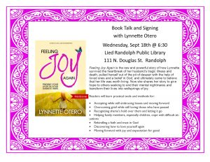 Book Talk and Signing with Lynnette Otero @ Lied Randolph Public Library