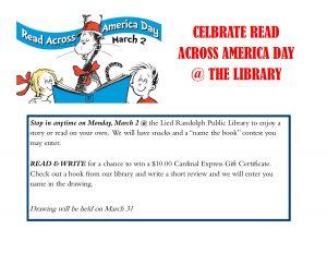 READ Across America Day @ Lied Randolph Public Libary