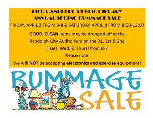 Rummage Sale @ Randolph City Auditorium