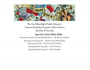 Summer Reading Program 1st & 2nd grade @ Lied Randolph Public Library