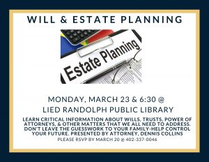 Will & Estate Planning @ Lied Randolph Public Library