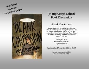 "High School Book Discussion on ""Blank Confession"""