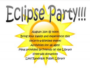 Eclipse Party @ Lied Randolph Public Library | Randolph | Nebraska | United States