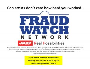 Fraud Watch Network Presentation @ Lied Randolph Public Library | Randolph | Nebraska | United States