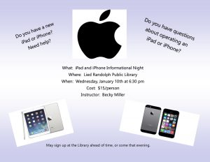 Ipad/Iphone Informational Night @ Lied Randolph Public Library