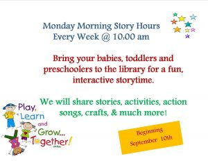 Monday Story Hours @ Lied Randolph Public Library