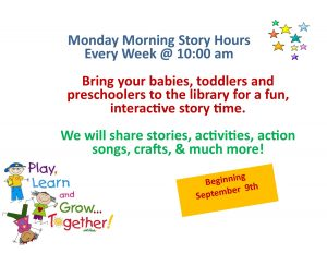 Monday Morning Story Time @ Lied Randolph Public Library