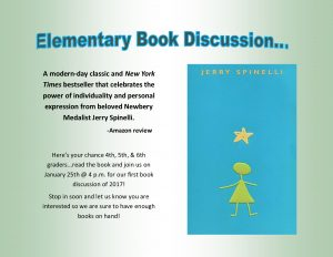 Elementary Book Discussion @ Lied Randolph Public Library | Randolph | Nebraska | United States