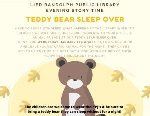 Evening Story Time @ Lied Randolph Public Library